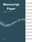 Standard Manuscipt Paper Notebook: Nocturne Blue Cover 120 Page 8.5 x 11 Inch 12 Staff Blank Sheet Music Notebook for Music Writing Cover Image