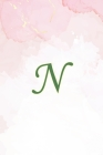 N: Initial Monogram Notebook, Monogram Journal, Initial Notepad, 100 Pages Cover Image