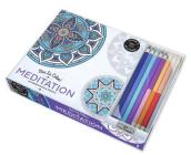 Vive Le Color! Meditation (Adult Coloring Book and Pencils): Color Therapy Kit Cover Image