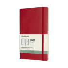 Moleskine 2022  Weekly Planner, 12M, Large, Scarlet Red, Soft Cover (5 x 8.25) Cover Image