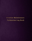 Aviation Maintenance Technician Log Book: AMT Aicraft maintainence logbook for technicians operations and mechanics - Purple leather print design Cover Image