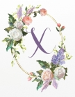 X: White Pink Floral 3-Year Monthly Calendar 2020-2022 Cover Image