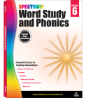 Spectrum Word Study and Phonics, Grade 6 Cover Image
