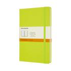 Moleskine Classic Notebook, Large, Ruled, Lemon Green, Hard Cover (5 X 8.25) Cover Image