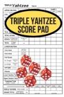 Triple Yahtzee Score Pad Cover Image