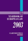Yearbook of European Law: Volume 22: 2003 Cover Image