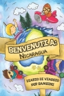 Benvenuti A Nicaragua Diario Di Viaggio Per Bambini: 6x9 Diario di viaggio e di appunti per bambini I Completa e disegna I Con suggerimenti I Regalo p Cover Image