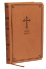 Kjv, Value Thinline Bible, Compact, Leathersoft, Brown, Red Letter Edition, Comfort Print Cover Image