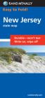 Rand McNally Easy to Fold: New Jersey (Laminated Fold Map) Cover Image