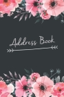 Address Book: Large Print Birthdays & Address Book for Contacts, Addresses, Phone Numbers, Email Floral Directory Notebook Cover Image
