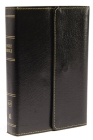 KJV, Reference Bible, Compact, Large Print, Snapflap Leather-Look, Black, Red Letter Edition Cover Image
