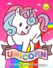 Unicorn Coloring Books for Girls: Cute Pink Unicorn Coloring Books For Girls 4-8 for Girls, Children, Toddlers, Kids Cover Image