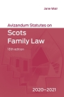 Avizandum Statutes on Scots Family Law: 2020-21 Cover Image
