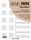 MUSIC PAPER NoteBook - Guitar Chord, Standard Staff & Tablature Cover Image