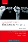 Blackstone's Guide to the Equality ACT 2010 (Blackstone's Guides) Cover Image