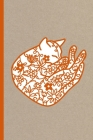 Notes: A Blank Lined Journal with Sleeping Cat Papercut Cover Art Cover Image