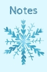 Notes: Beautiful Notebook With Blue Snowflake Perfect For Gifts 6x9 Cover Image