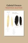 Written Matter Cover Image