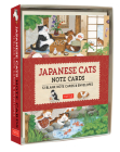 Japanese Cats Note Cards: 12 Blank Note Cards & Envelopes (6 X 4 Inch Cards in a Box) Cover Image