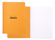 Rhodia Classic Lined 48 6 X 8 1/4 A5 Orange Cover Notebook Cover Image