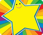 Rainbow Star Name Tags Cover Image