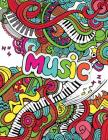 Music: - Mosaic Music Featuring 40 Stress Relieving Designs of Musical Instruments Cover Image