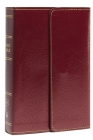 KJV, Reference Bible, Compact, Large Print, Snapflap Leather-Look, Burgundy, Red Letter Edition Cover Image