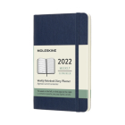 Moleskine 2022  Weekly Planner, 12M, Pocket, Sapphire Blue, Soft Cover (3.5 x 5.5) Cover Image