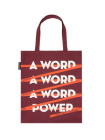 A Word Is Power Tote Bag Cover Image