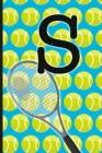 S: Tennis Monogram Initial Notebook for boys Letter S - 6