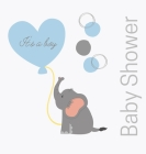 Welcome baby boy, baby shower guest book (Hardback) Cover Image