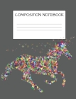 Composition Notebook: Mosaic Multicolored Unicorn Girls Elementary School Wide Ruled 120 Pages Cover Image