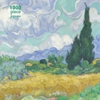 Adult Jigsaw Puzzle Vincent van Gogh: Wheatfield with Cypress: 1000-piece Jigsaw Puzzles Cover Image
