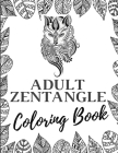 Adult Zentangle Coloring Book: Coloring book Addicts, Large print 163 Pages Cover Image
