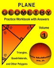Plane Geometry Practice Workbook with Answers Cover Image