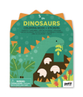 Coloring Book with Stickers Dinosaurs Cover Image