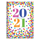 Cal 2021- Confetti Dot Academic Year Planner Cover Image