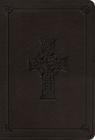 ESV Value Large Print Compact Bible (Trutone, Charcoal, Celtic Cross Design) Cover Image