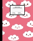 Graph Paper Composition Notebook: Quad Ruled 4 Squares Per Inch Sheets, Math and Science Grid Note Book for Elementary Students, Kawaii Clouds Cover Image