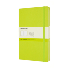Moleskine Classic  Notebook, Large, Plain, Lemon Green, Hard Cover (5 x 8.25) Cover Image