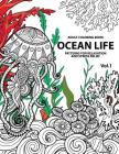 Ocean Life: Ocean Coloring Books for Adults a Blue Dream Adult Coloring Book Designs (Sharks, Penguins, Crabs, Whales, Dolphins an Cover Image