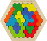 Kids' Wooden Geo Puzzle Cover Image
