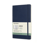 Moleskine 2022  Weekly Planner, 12M, Large, Sapphire Blue, Soft Cover (5 x 8.25) Cover Image