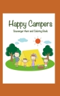 Happy Campers: Scavenger Hunt and Coloring Book Cover Image