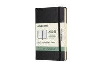 Moleskine 2020-21 Weekly Planner, 18M, Pocket, Black, Hard Cover (3 x 5.5) Cover Image