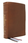 Nasb, MacArthur Study Bible, 2nd Edition, Premium Goatskin Leather, Brown, Premier Collection, Comfort Print: Unleashing God's Truth One Verse at a Ti Cover Image