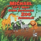 Michael Let's Meet Some Adorable Zoo Animals!: Personalized Baby Books with Your Child's Name in the Story - Zoo Animals Book for Toddlers - Children' Cover Image