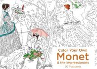 Color Your Own Monet and the Impressionists 20 Postcards Cover Image