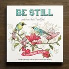 Adult Coloring Book Be Still Cover Image