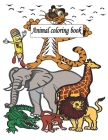 animal coloring book: Funny Farting Dog, Cat, Bear, Rabbit, cow, Fox, giraffe and Little Animal Designs, Stress ... Girls and boys, Kids Age Cover Image